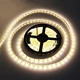 Image of Noza Tec 12v Flexible Waterproof Led Strip Light Warm White Bright 300 Smd 5050 Leds Pack Of 10m33 Ft