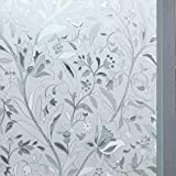 SD.Enterprises 3D Printed Window Films Privacy Glass Film Self Adhesive Decorative Film for Bathroom/Door Window/Heat Control/Sidelight/Anti UV 24 x 144 inches