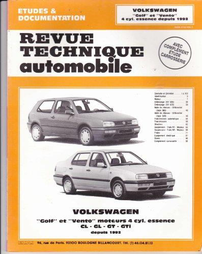 Revue Technique 544.1 Vw Golf et Vento (4 Cyl.Essence Depuis 92)