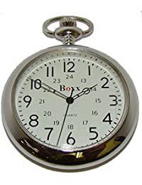 GENTS CLASSIC ARABIC NUMBER SILVER POCKET WATCH