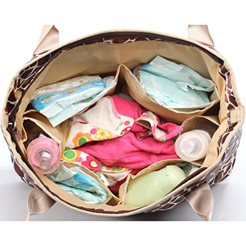 Zhhlinyuan Baby Nappy Diaper Backpack Multifonctional Mummy Handbag Changing Bottle Bag Multicolore