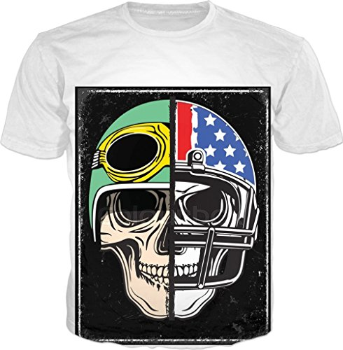 100ANB - SKULL VINTAGE HELMET with STARS & STRIPES USA AMERICAN FLAG MOTORCYCLE NYK RIDER CALIFORNIA RACER (2 - 21) - BIKER SPORT BIKE MOTO - GRAPHIC PRINTED DRIFIT DRYFIT MICRO POLYESTER ROUND NECK T-SHIRT TEE TSHIRT, SIZE : SMALL (38)  available at amazon for Rs.640