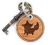 Mr. & Mrs. Panda Rundwelle Schlüsselanhänger Fuchs Stehend - Fuchs, Wald, Waldtiere, Füchse, Tiere Schlüsselanhänger, Anhänger, Taschenanhänger, Glücksbringer, Schlüsselband