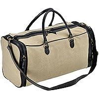 [corium] Bolso de Viaje Beige/Negro 27 x 54 x 23 cm Bolsa de Cuero sintético Bolsa de Deporte Equipaje de Mano