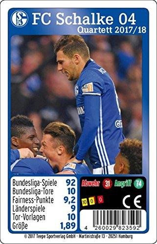 Teepe 23592 Figuren & Charactere Sportverlag 23592-FC Schalke 04 Quartett 17/18