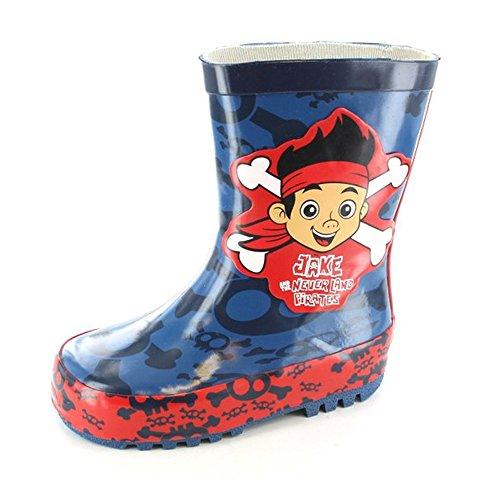 (Disney Jake & the Neverland Pirates Wellington Boots Wellies Blue Boys UK Infant Size 9)