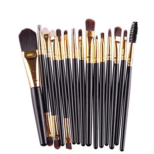 15 Stück / Kosmetik Make up Sets FORH Professionelle Schminkpinsel Kosmetik Foundation Powder Brush Lidschattenbürste Wimperntusche Pinsel Make up Pinsel Kit (Und Nagellack Kit Schwarzen Lippenstift)
