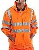 B Seen Hooded Sweatshirt Hi-Vis Orange - Medium