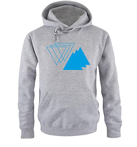 Comedy Shirts - 3D TRIANGLE - Uomo Hoodie cappuccio sweater - taglia S-XXL different colors grigio / blu