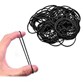 Fox Micro Rubber Bands Black 500-Pack Rubber Bands Black Color , Soft Elastic Bands Will Not Break Hair