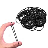 #7: Fox Micro Rubber Bands Black 500-Pack Rubber Bands Black Color , Soft Elastic Bands Will Not Break Hair