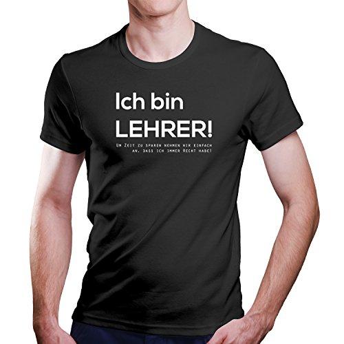 ZDesignONE Ich Bin Lehrer/Schule/Schüler/Fun T-Shirt Größe XS-4XL Schwarz