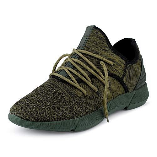 Fusskleidung Herren Sportschuhe Strick Laufschuhe Freizeitschuhe Sneaker Turnschuhe Gym Runners Oliv EU 41 Gucci White Sneakers