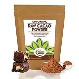 CRUDO CACAO POLVERE BIOLOGICO, Ingrediente cioccolato vegano di qualità premium, senza zucchero, sapore delizioso per cucinare, preparare frullati energetici e barrette proteiche - 400g - Nutri Superfoods