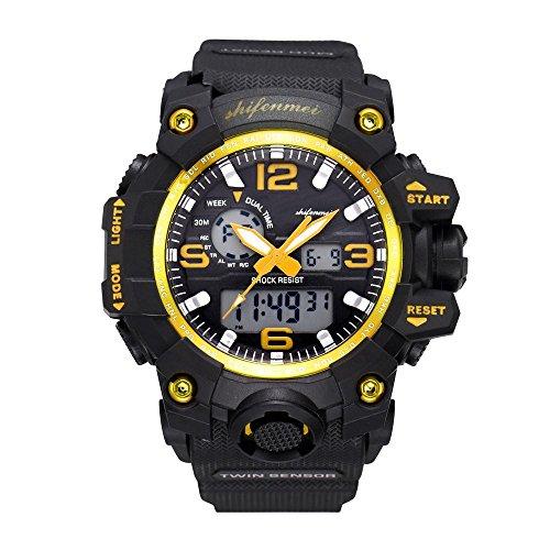 Knowin Uhren 2019 Mode Neue Herrenuhr Digital-Quarz-Sportuhren Bergsteigen Uhren wasserdichte Elektronische Sportuhr für Man Klassiker Armband Uhr -