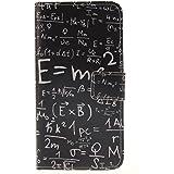 Coque Galaxy A5 2016 Smartphone Cover Case Étui à rabat Cuir Portefeuille Etui Pour Samsung Galaxy A5 (2016) SM-A510F Housse de Protection ave Carte Pochette (Équations de la physique)