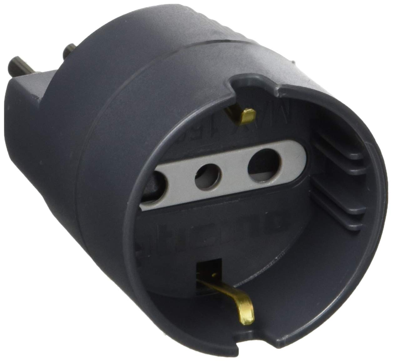 BTicino-S3623GEBK-Adattatore-Spina-10A-Presa-P30-Nero