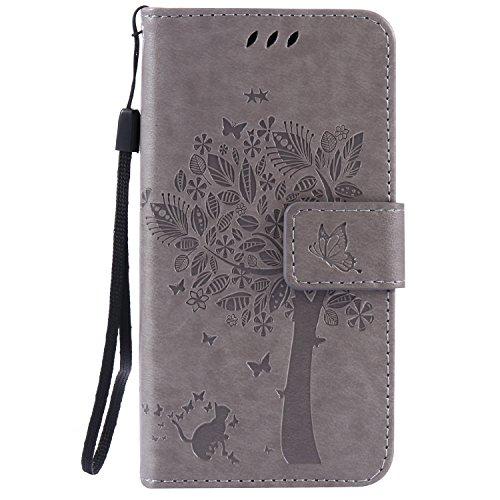 Voguecase® Per Samsung Galaxy A3, (grande albero - grigio) Elegante