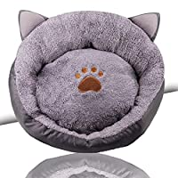 ER-JI Pet nest warm thick cat cat kennel pet bed,Gray