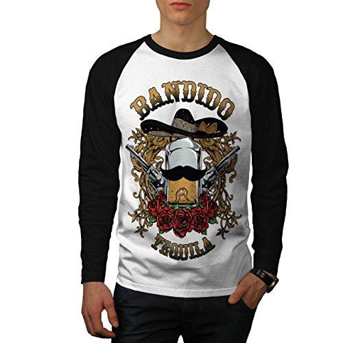 Bandido Tequila Rose Mexiko Gewehr Herren M Baseball lange Ärmel T-Shirt   (Kostüm Bandido Herren)