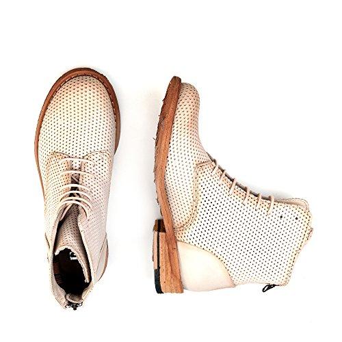 Felmini - Damen Schuhe - Verlieben Gredo 9507 - Schnürung Stiefel - Echte Leder - Beige - 0 EU Size Beige