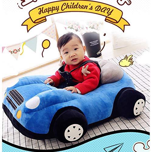 Vidsdere Plüsch Auto Sessel für Kinder, Weichen Cute Kindersessel Gemütliche Pp Baumwolle Baby Sitting Stuhl Kinder polsterstuhl Mit Anti-rutsch-Boden -blau 75x65cm(30x26inch)