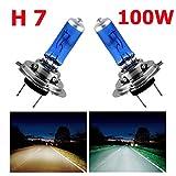 TOPMAX 2Pcs H7 LED 12V 100W Phare de voiture CREE Ampoule 8500k Super blanc Xénon Lampe