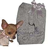 Chihuahua XS Schatz Designer Hunde Softgeschirr Hundemantel (ohne Anhänger )