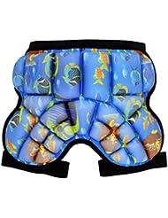 QHGstore Niños Niños prendas de vestir exteriores de la historieta de hockey cadera pantalones de cortocircuitos pista pistas protectoras océano azul