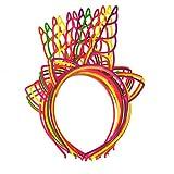 JiaHan Pack de 12 Plástico Unicornio Las Vendas Hairbands para Chicas Adolescentes Los niños pequeños Fiesta Infantil (Brillante en Color)