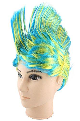 ücke Irokese IRO Kopfbedeckung WM EM Fan Party Fasching Karneval Farbe Ukraine (Kostüme Ukraine)