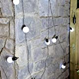 Festive Lights 4.5m Outdoor Battery Operated Festoon Lights with 10 Bright LEDs by (White)