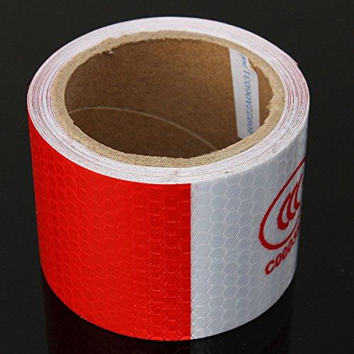 Generic qy-uk4-16feb-20-3259* 1* * 5209* * avviso di sicurezza te/rosso rosso riflettente 3m Whit 3m bianco/L striscia di IVE Saf sticker roll Conspicuity nastro film Ticker roll striscia