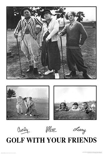 (24x36) Three Stooges Movie (Golf With Your Friends) Poster Print by Poster Revolution
