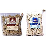 Nootie Baked Cookies for Dogs Combo Pack of Chicken & Peanut Butter 1kg, Milk Biscuits 1kg
