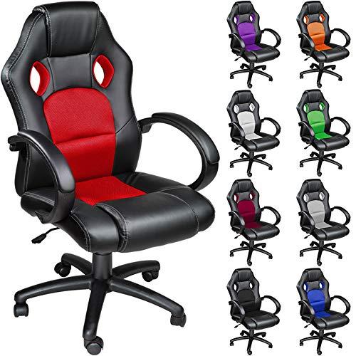TecTake Silla de escritorio de oficina, Racing - disponible en diferentes colores...
