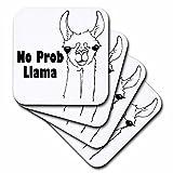 evadane–Funny Zitate–keine Pro Lama.–Untersetzer, keramik, set-of-4-Ceramic