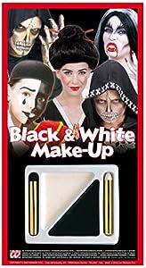 WIDMANN?Juego de maquillaje para disfraz Unisex-Adult, blanco/negro, talla única, 4012B