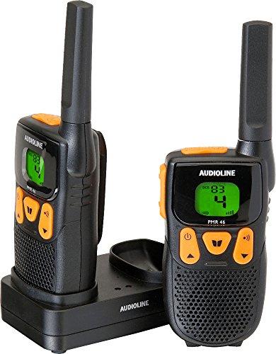 Audioline Power PMR 46 Funkgeräte (Headset, Gürtelclips, Bedienungsanleitung)