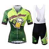 Thriller Rider Sports® Donna I Like Beer Sport e Tempo Libero Abbigliamento Ciclismo Magliette Manica Corta e Pantaloncini Cinturino Combinazione Medium