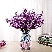 LUSHIDI 6PCS Artificial Baby Breath Flowers Fake Silk Real Touch DIY Floral Bouquets Decor Wedding Party Decoration Arrangements (Purple)