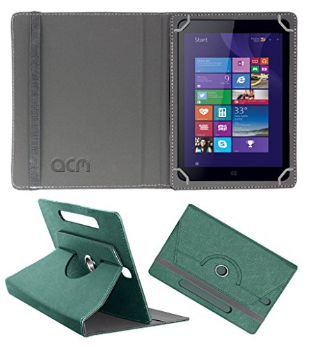 Acm Designer Rotating Leather Flip Case for Iball Slide Wq32 Cover Stand Turquoise  available at amazon for Rs.189