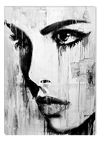 Startonight Leinwandbilder Schwarz und Weiß Abstraktes Tiefen, Doppelansicht Überraschung Modernes Dekor Kunstwerk Gerahmte Wand Kunst 100% Ursprüngliche Fertig zum Aufhängen 80 x 120 CM