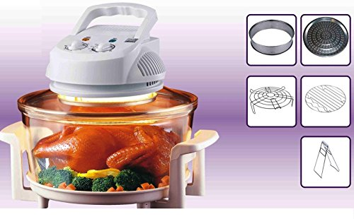 Thulos Horno DE CONVECCION ELECTRICO HALOGENO Cocina Sano 12 litros 1350W Incluye...