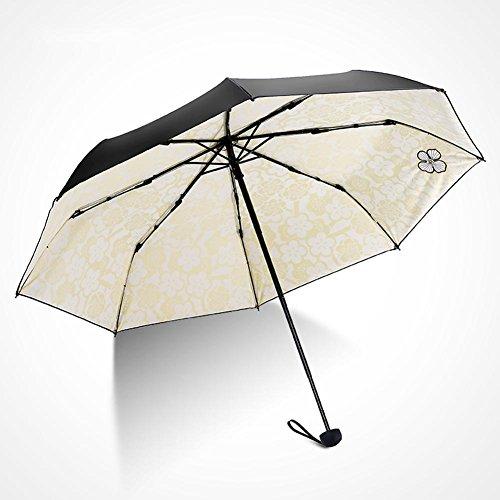 JAYLONG Travel Umbrella 8 Ribs Pink Flowers Construcción de acero inoxidable resistente Construcción rápida Secado impermeable paraguas para mujeres, hombres, niños y niños, B