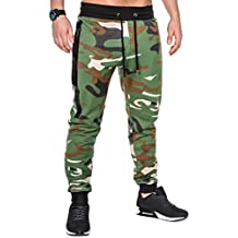 BetterStylz SlvrCatBZ Hombre Camoflage Pantalones Track Pant Sportswear Tech Fleece Deportivos Joggers Pantalón de chándal con 2 Cremalleras Sweatpant div colores (S-XXL)