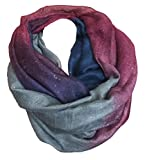 JameStyle26 FASHION LOOP Design Farbverlauf Schal Schlauchschal Rundschal Style Glitzer (Violett Blau)