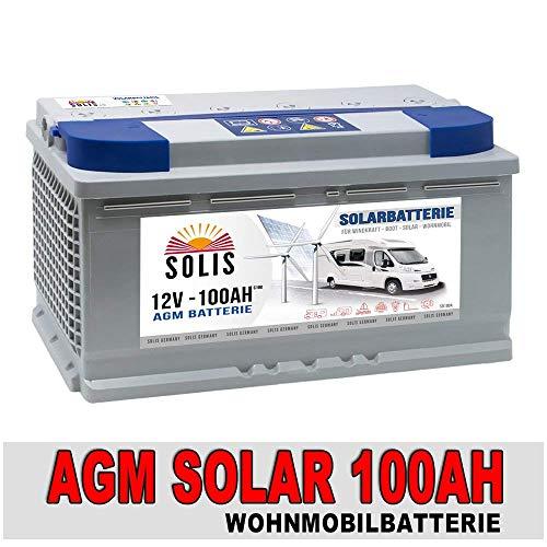 AGM 100Ah 12V Versorgungsbatterie Solarbatterie Bootsbatterie Wohnmobil zyklenfest