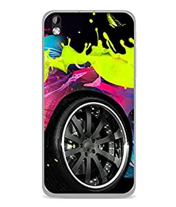 PrintVisa Designer Back Case Cover for HTC Desire 816 :: HTC Desire 816 Dual Sim :: HTC Desire 816G Dual Sim (Wheel Tyre Colourful Auto Circle)
