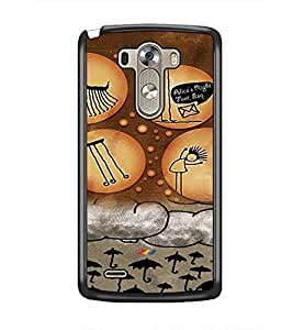 PrintDhaba Cartoon D-3592 Back Case Cover for LG G3 (Multi-Coloured)